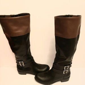 NIB Arizona riding Tall boots black and tan 7.5
